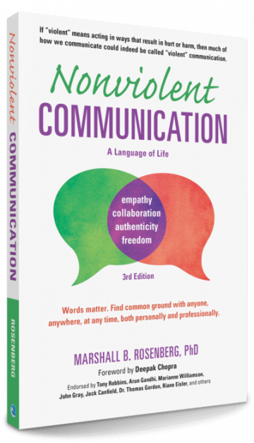 Nonviolent Communications Book Cover 3rd Edition