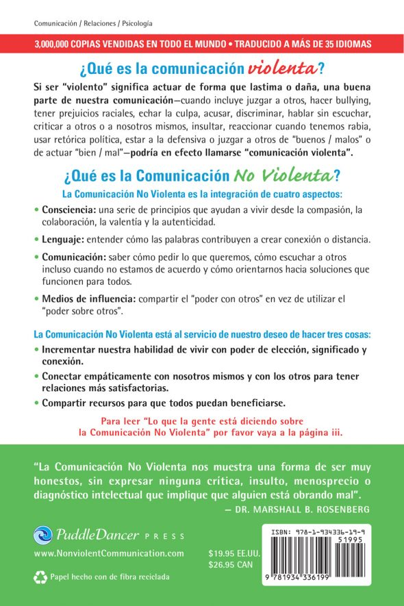 Comunicacion No Violenta back cover