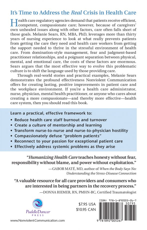 Humanizing Health Care back cover
