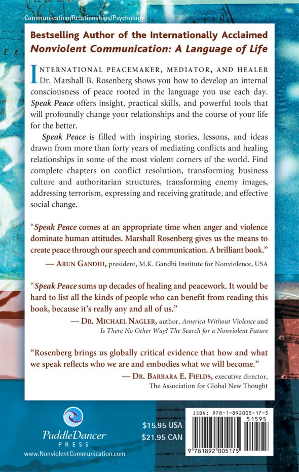 Speak Peace in a World of Conflict back cover