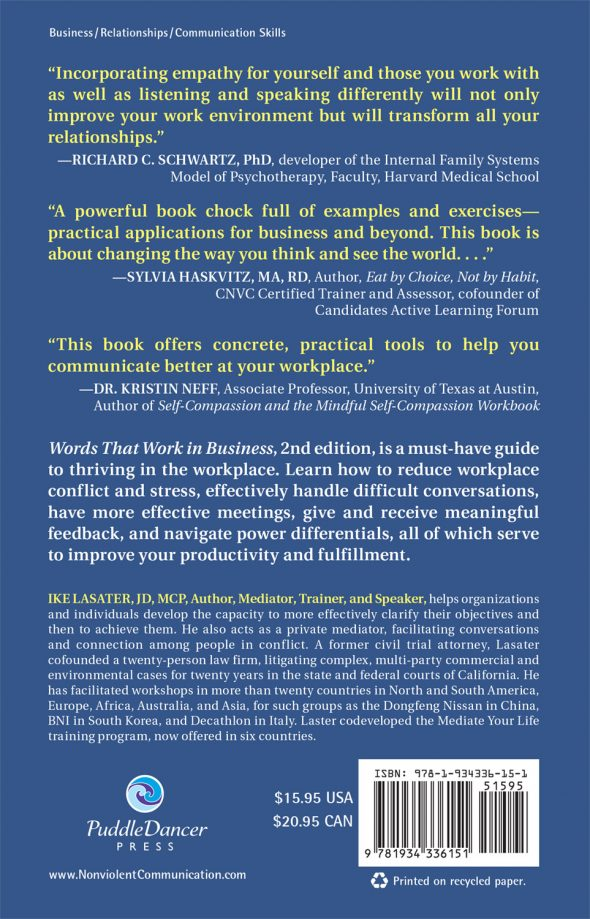 Words That Work In Business back cover